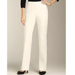 Talbots Heritage Ivory Wool Lined Wide Leg Pants